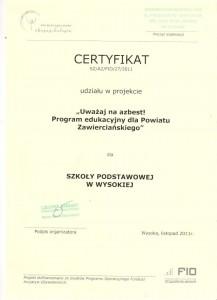 certyfikat 7 002